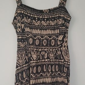 Cute soft black and brown printed dress